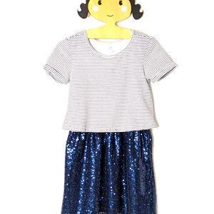 Gap Kids Dress w/ sequin attached skirt sz: M